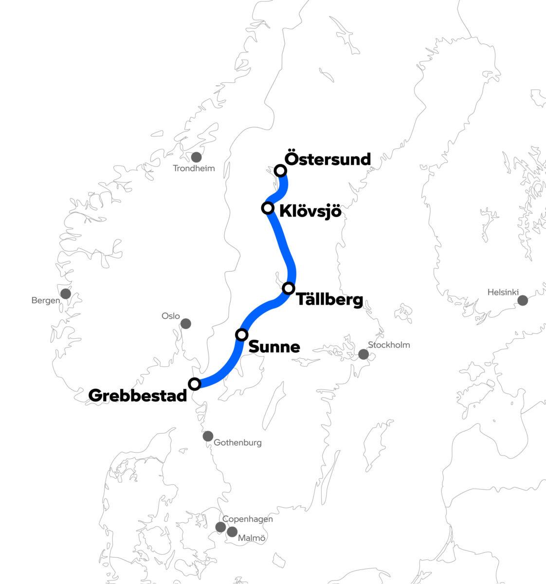BMW Motorrad Nordic Safari 2021 Map